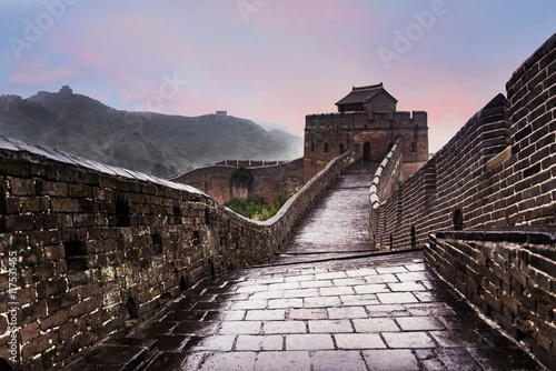 Foto auf Leinwand Chinesische Mauer The Great wall of China: 7 wonder of the world.