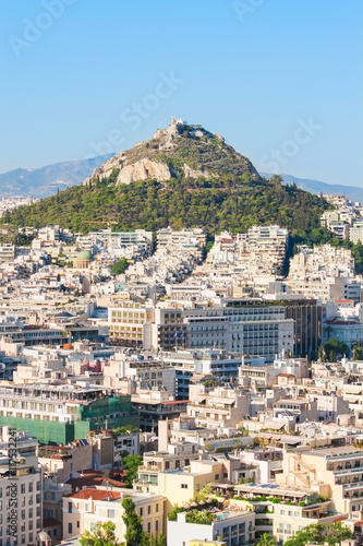 Tuinposter Athene Beautiful view at Mount Lycabettus and the city of Athens, Greece.