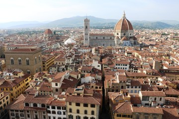 Fototapeta Florence in Italy with the great dome of Cathedral Santa Maria del Fiore