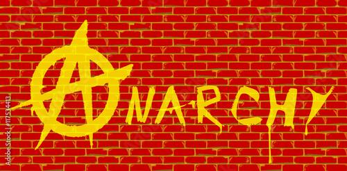 Fotografie, Obraz  Anarchy Red Brick Wall