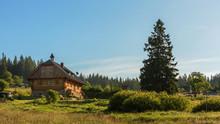 Chalet In Sumava National Park, South Bohemia, Czech Republic.