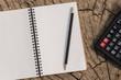 notebook with nature background, Working desktop concept idea, Vintage tone filter
