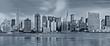 panorama new york city in blue tonality
