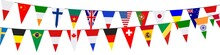 Banner. Garlands, Pennants. In...