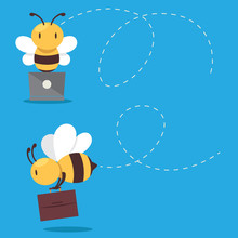 Business Bee Mascot