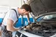 Checking car engine