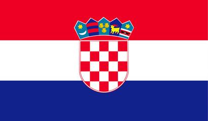Zastava Hrvatske. Vektor. Točne dimenzije, proporcije i boje elemenata.