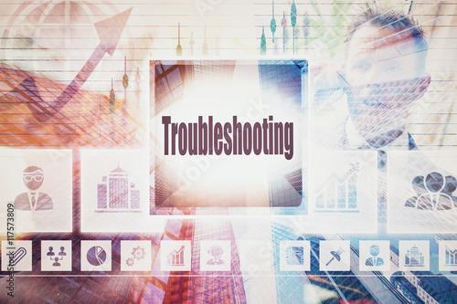 Fotografía  Solución de problemas de negocios Collage del concepto