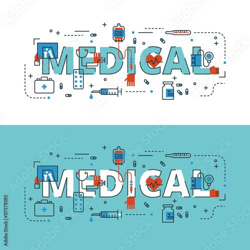 medyczne-napisanie-plaskiej-linii-z-ikony-i-elementy-dla-b