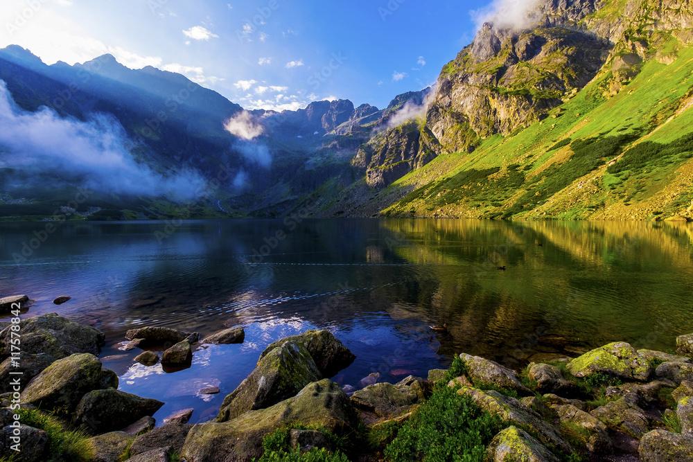 Fototapeta Czarny Staw Gąsienicowy @ Tatra Mountains