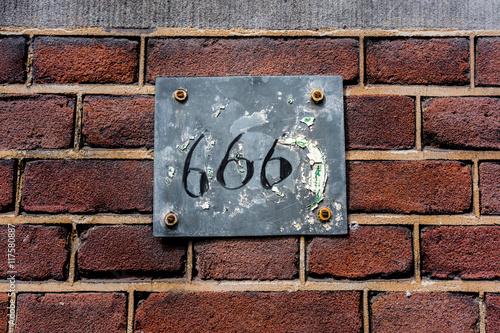 фотография  number 666