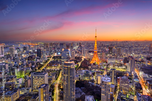 Foto op Canvas Tokyo Tokyo, Japan Skyline