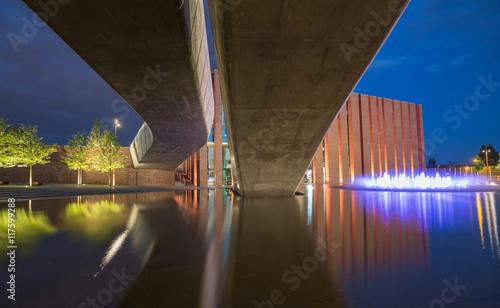 Katowice / Nocny widok na centrum