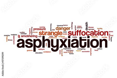 Photo Asphyxiation word cloud concept