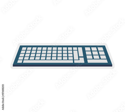 keyboard gadget technology icon. Isolated and flat illustration. Vector graphic Wall mural