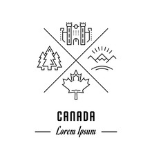 Vector Line Banner Canada