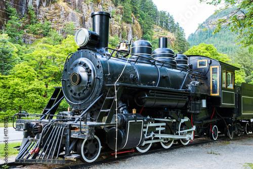 Zdjęcie XXL Silnik parowy Silnik lokomotywowy