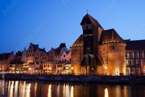 Fototapety, obrazy: City of Gdansk by Night, Poland