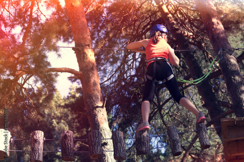 kid athlete belay climbing outfit Canvas Print