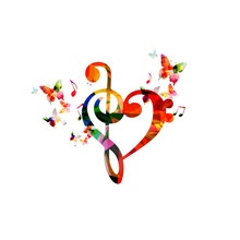 Colorful G-clef Heart With But...
