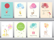 Set Of Birthday Cards,poster,t...