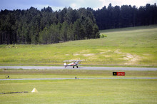 Landing A Biplane Rolling On T...