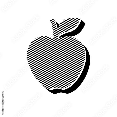 Fototapeta ikona ze wzorku pasków i kresek obraz