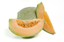 Cucumis Melo Or Melon With Hal...