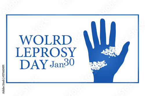 World leprosy day illustration Wallpaper Mural
