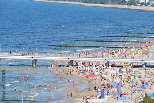 Fototapeta Plaża nad Bałtykiem obraz