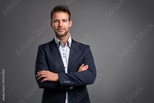 Fototapeta Confident elegant young man  obraz na płótnie