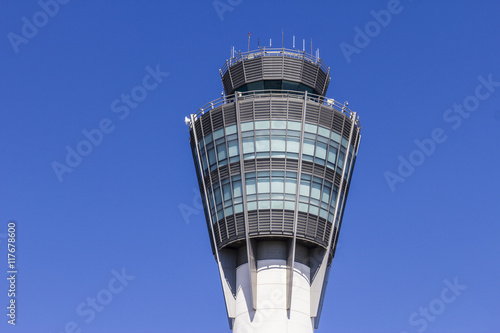 Foto op Aluminium Luchthaven The Air Traffic Control Tower at Indianapolis International Airport I