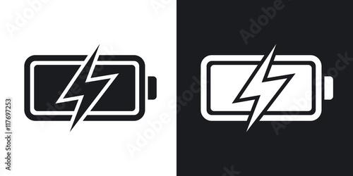 Vector battery icon, stock vector Canvas Print