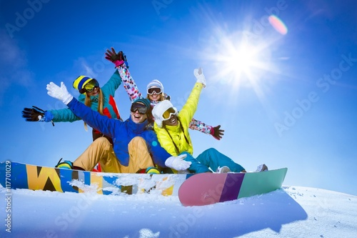 Tuinposter Wintersporten Winter sports