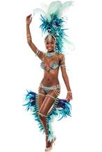 Female Samba Dancer Dancing.