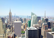 NEW YORK CITY - JUNE 2013: Panoramic view of Manhattan on a beau