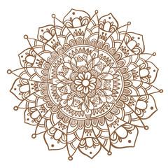 FototapetaHand drawn mandala, decorative round ornament.