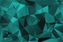 Turquoise Abstract Polygonal Background