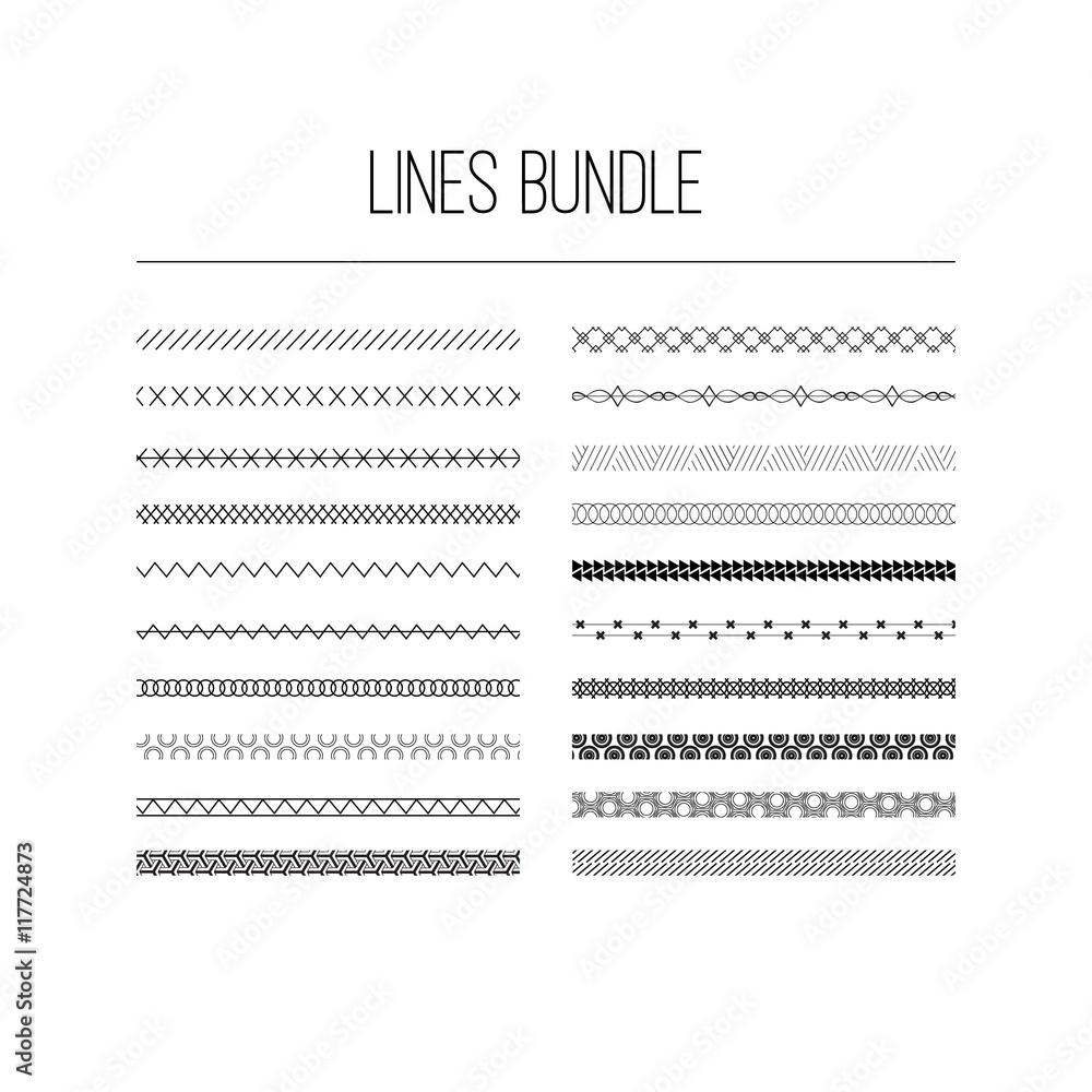 Fototapety, obrazy: Lines bundle
