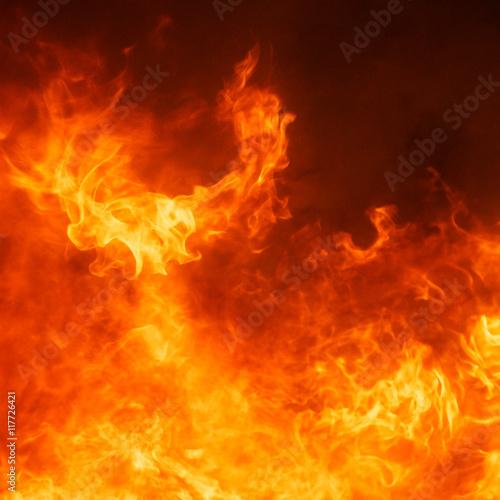 Photo sur Toile Feu, Flamme blaze fire flame texture background