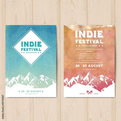 Plakaty z festiwalu indyjskiego
