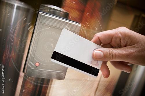 Fotografie, Tablou badge sécurité accès vigipirate portillon détecteur identit