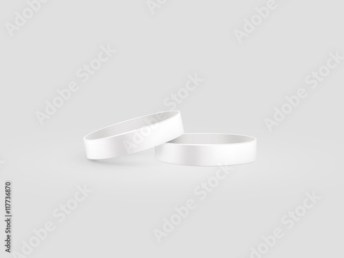 Blank White Rubber Wristband Mockup Clipping Path Ilration Clear Sweat Band Stack