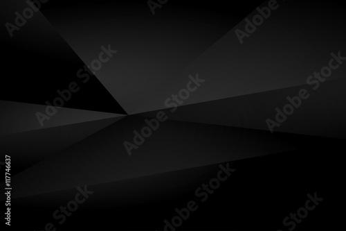 Photo Black polygonal triangular mosaic background for web, presentations and prints