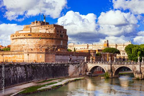 Landmarks of Italy - Castle Sant Angelo in Rome - 117751865