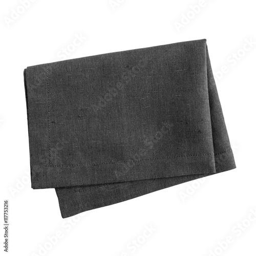 Fototapeta Black napkin isolated on white background obraz