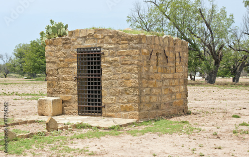 Photographie  19th Century jail in the ghost town of Fort Griffin, Texas, U