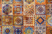 Asian Tiles With Traditional P...