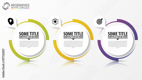 Photo  Circle infographic. Template for diagram. Vector