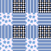 Seamless Pattern With Maple Le...